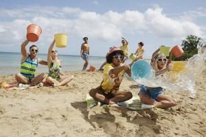 TEEN BEACH 2 - Day 2. (Disney Channel/Francisco Roman) KENT BOYD, JORDAN FISHER, MOLLEE GRAY