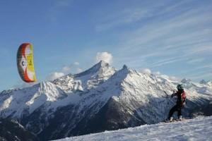 Snowkiten in Mont-Pourri © La Rosière