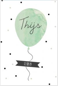 staand-geboortekaartje-watercolour-confetti